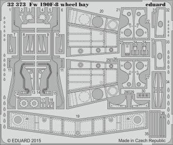 Focke Wulf Fw 190 F-8 - Wheel bay [Revell] · EDU 32373 ·  Eduard · 1:32
