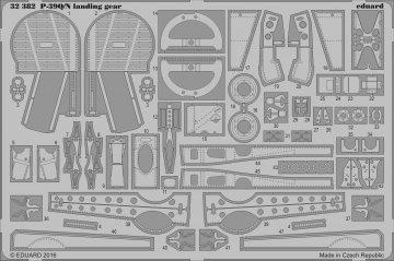 P-39 Q/N Airacobra landing gear [Kitty Hawk] · EDU 32382 ·  Eduard · 1:32