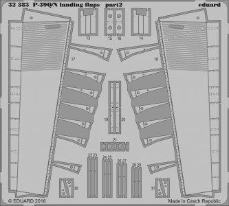 P-39 Q/N Airacobra - Landing flaps [Kitty Hawk] · EDU 32383 ·  Eduard · 1:32