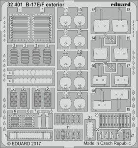 Boeing B-17E/F - Exterior [HKM] · EDU 32401 ·  Eduard · 1:32