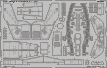 Mirage III E/R - Exterior [Italeri] · EDU 32403 ·  Eduard · 1:32