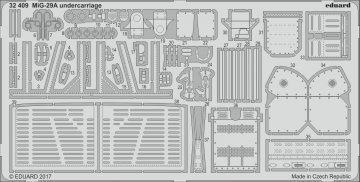 Russian MIG-29A Fulcrum - Undercarriage [Trumpeter] · EDU 32409 ·  Eduard · 1:32