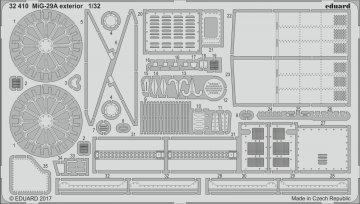 Russian MIG-29A Fulcrum - Exterior [Trumpeter] · EDU 32410 ·  Eduard · 1:32