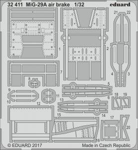 Russian MIG-29A Fulcrum - Air brake [Trumpeter] · EDU 32411 ·  Eduard · 1:32