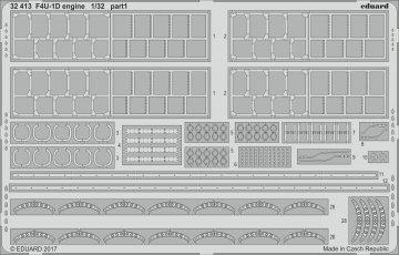US Vought F4U-1D Corsair - Engine [Tamiya] · EDU 32413 ·  Eduard · 1:32