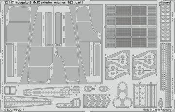 Mosquito B Mk.IX - Exterior/- Engines [HKM] · EDU 32417 ·  Eduard · 1:32
