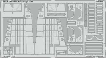 P-51D Mustang - Undercarriage [Revell] · EDU 32420 ·  Eduard · 1:32