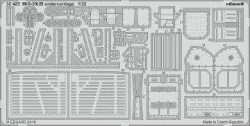 Russian MIG-29UB Fulcrum - Undercarriage [Trumpeter] · EDU 32425 ·  Eduard · 1:32