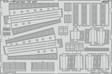 P-40F War Hawk - Gun bays [Trumpeter] · EDU 32431 ·  Eduard · 1:32