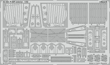 P-40F War Hawk - Exterior [Trumpeter] · EDU 32434 ·  Eduard · 1:32