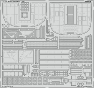 B-24 Liberator - Bomb bay [HobbyBoss] · EDU 32440 ·  Eduard · 1:32