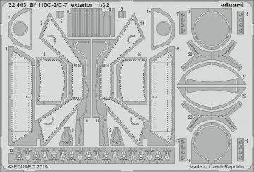 Messerschmitt Bf 110 C-2/C-7 - Exterior [Revell] · EDU 32443 ·  Eduard · 1:32