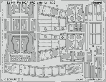 Focke Wulf Fw 190 A-8/R2 - Exterior [Revell] · EDU 32444 ·  Eduard · 1:32