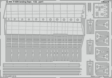 P-40N War Hawk - Landing flaps [Trumpeter] · EDU 32449 ·  Eduard · 1:32