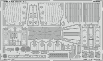 P-40E War Hawk - Exterior [Trumpeter] · EDU 32455 ·  Eduard · 1:32