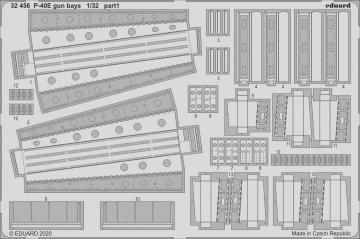 P-40E War Hawk - Gun bays [Trumpeter] · EDU 32456 ·  Eduard · 1:32