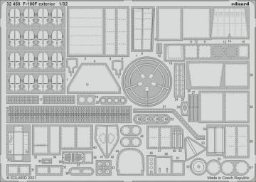 F-100F - Exterior [Trumpeter] · EDU 32458 ·  Eduard · 1:32