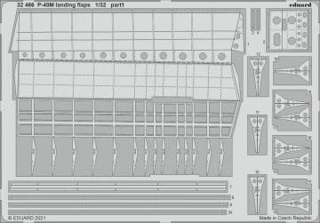 P-40M War Hawk - Landing flaps [Trumpeter] · EDU 32466 ·  Eduard · 1:32