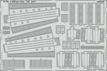 P-40M War Hawk - Gun bays [Trumpeter] · EDU 32467 ·  Eduard · 1:32
