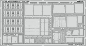 F-100C Super Sabre - Exterior [Trumpeter] · EDU 32468 ·  Eduard · 1:32