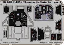 F-105G Thunderchief - Interior [Trumpeter] · EDU 32520 ·  Eduard · 1:32