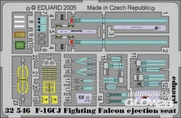 F-16CJ Fighting Falcon - Ejection seat [Tamiya] · EDU 32546 ·  Eduard · 1:32