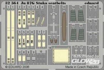 Junkers Ju 87 G Stuka  - Seatbelts [Hasegawa] · EDU 32564 ·  Eduard · 1:32