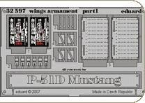 P-51D Mustang wings armament für Dragon Bausatz · EDU 32597 ·  Eduard · 1:32