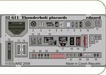 P-47D Thunderbolt - Placards [Trumpeter] · EDU 32611 ·  Eduard · 1:32