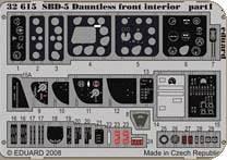 SBD-5 Dauntless front interior für Trumpeter Bausatz · EDU 32615 ·  Eduard · 1:32