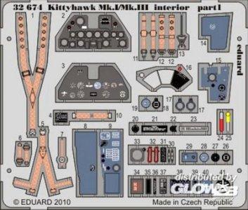 Kittyhawk Mk.I/Mk.III - Interior S.A. [Hasegawa] · EDU 32674 ·  Eduard · 1:32