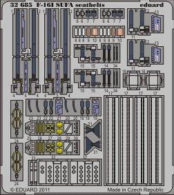 F-16I SUFA - Seatbelts [Academy] · EDU 32685 ·  Eduard · 1:32