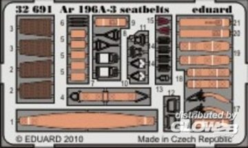Ar 196A-3 - Seatbelts [Revell] · EDU 32691 ·  Eduard · 1:32