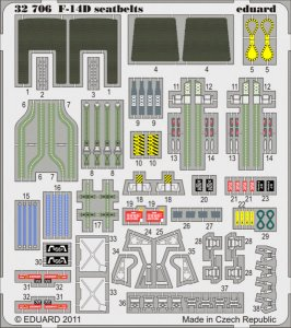 F-14D - Seatbelts [Trumpeter] · EDU 32706 ·  Eduard · 1:32