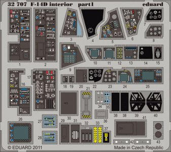 F-14D interior S.A. for Trumpeter · EDU 32707 ·  Eduard · 1:32