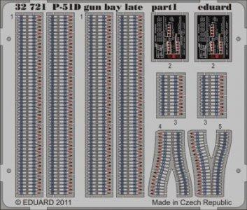 P-51D - Gun bay late [Tamiya] · EDU 32721 ·  Eduard · 1:32