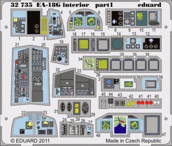 EA-18G interior S.A. for Trumpeter · EDU 32735 ·  Eduard · 1:32
