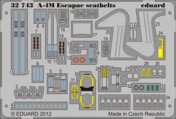 A-4M Escapac - Seatbelts [Trumpeter] · EDU 32743 ·  Eduard · 1:32