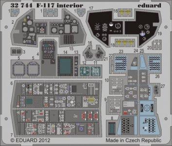 F-117 - Interior S.A. [Trumpeter] · EDU 32744 ·  Eduard · 1:32