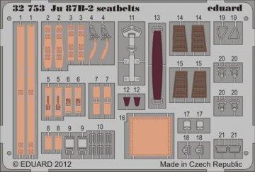 Junkers Ju 87 B-2 - Seatbelts [Trumpeter] · EDU 32753 ·  Eduard · 1:32