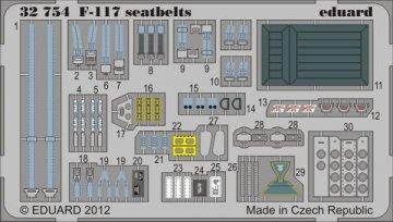 F-117 - Seatbelts [Trumpeter] · EDU 32754 ·  Eduard · 1:32