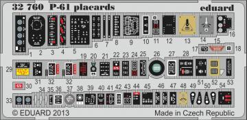 P-61B Black Widow - Placards [HobbyBoss] · EDU 32760 ·  Eduard · 1:32