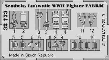 Seatbelts Luftwaffe WWII Fighter Fabric · EDU 32773 ·  Eduard · 1:32
