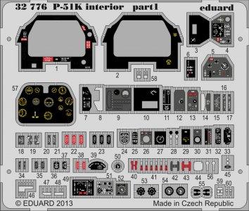Mustang P-51K - Interior S.A. [Tamiya] · EDU 32776 ·  Eduard · 1:32
