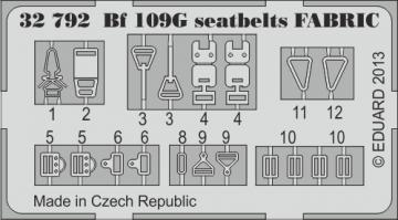 Messerschmitt Bf 109G - Seatbelts FABRIC [Revell] · EDU 32792 ·  Eduard · 1:32
