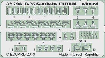 B-25 searbelts FABRIC [HKM] · EDU 32798 ·  Eduard · 1:32