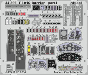 F-104G Starfighter interior S.A. [Italeri] · EDU 32803 ·  Eduard · 1:32