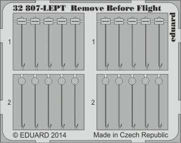Remove Before Flight FABRIC · EDU 32807 ·  Eduard · 1:32