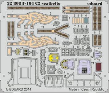 F-104 C2 Starfighter - Seatbelts [Italeri] · EDU 32808 ·  Eduard · 1:32