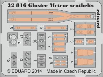 Gloster Meteor - Seatbelts [HKM] · EDU 32816 ·  Eduard · 1:32